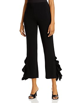 Cinq à Sept - Emily Flared Ruffled Ankle Pants