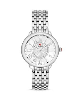 MICHELE - Serein Mid Stainless Diamond Dial Watch, 36mm