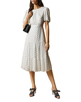 Ted Baker - Mariani Metallic Dot Midi Dress