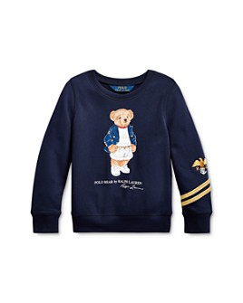 Ralph Lauren - Girls' Blazer Bear French Terry Pullover Sweatshirt - Little Kid