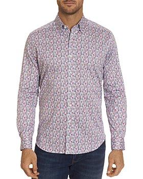 Robert Graham - Medina Cotton Stretch Digital Geo-Print Slim Fit Button-Down Shirt