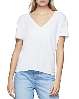 Good American - V-Neck Cotton Tee