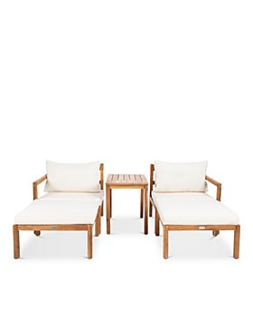 SAFAVIEH - Pratia 5-Piece Indoor/Outdoor Seating Set
