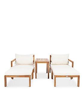 SAFAVIEH - Pratia 5-Piece Indoor/Outdoor Seating Set