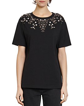Sandro - Flocan Embellished T-Shirt