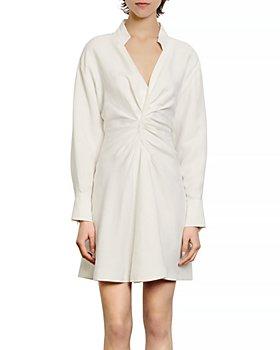 Sandro - Celia Ruched Mini Dress