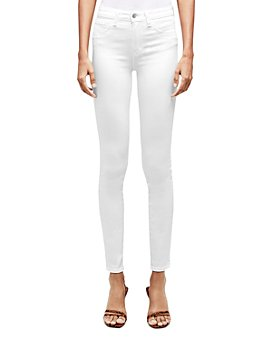 L'AGENCE - Marguerite Skinny Jeans in Blanc