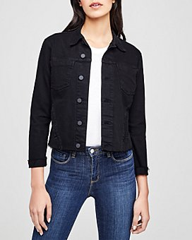 L'AGENCE - Janelle Raw-Edge Denim Jacket