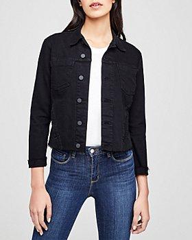 L'AGENCE - Janelle Raw-Edge Denim Jacket