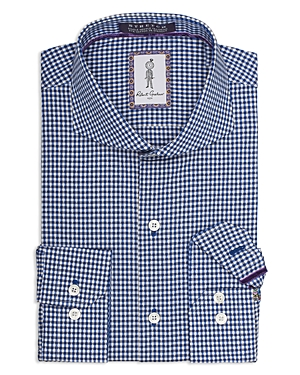 Robert Graham Herrera Gingham X Pattern Regular Fit Dress Shirt