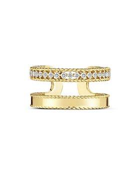 Roberto Coin - 18K Yellow Gold Symphony Princess Diamond Double Band Ring