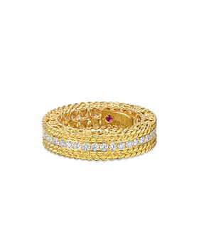 Roberto Coin - 18K Yellow Gold Princess Diamond Band
