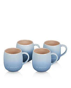 Le Creuset - Coastal Blue Heritage Mugs, Set of 4
