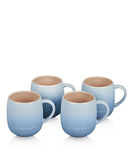 Le Creuset - Coastal Blue Heritage Mugs, Set of 4
