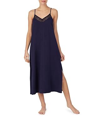 Long Lace Trim Cotton Nightgown