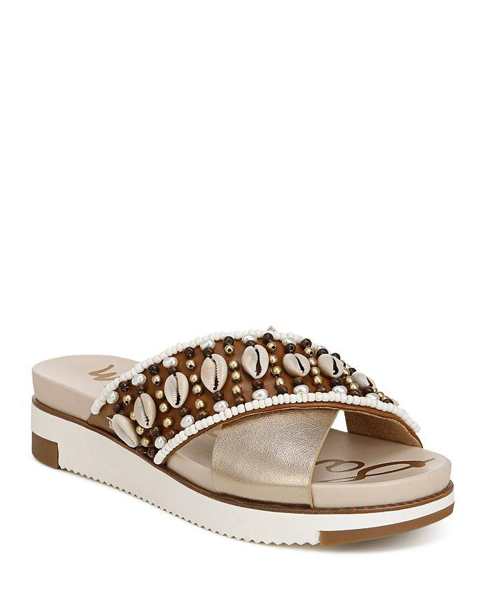 Sam Edelman - Women's Audrea 2 Shell & Bead Slide Sandals