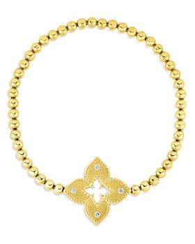 Roberto Coin - 18K Venetian Princess Diamond Stretch Bracelet