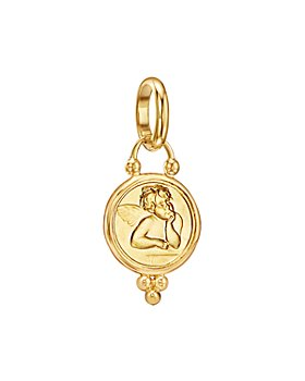 Temple St. Clair - 18K Yellow Gold Angel Pendant and Extra Small Oval Chain