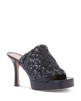Bottega Veneta - Women's Board Platform Woven Square Sandals