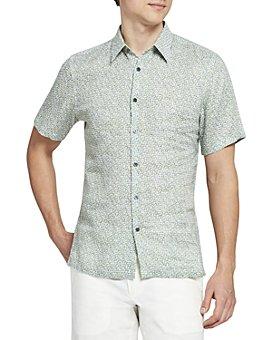 Theory - Irving Short-Sleeve Woven Linen Shirt