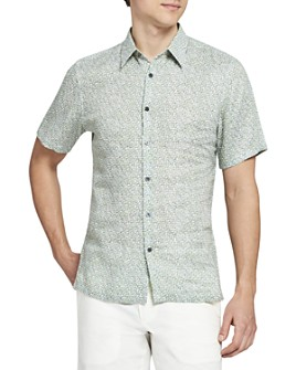 Theory - Irving Short-Sleeve Woven Linen Shirt