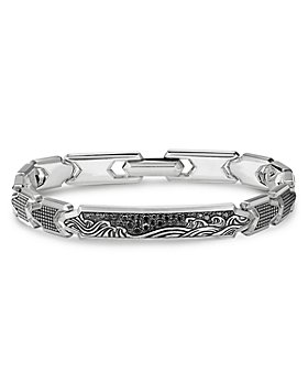 David Yurman - Waves ID Link Bracelet with Pavé Black Diamonds