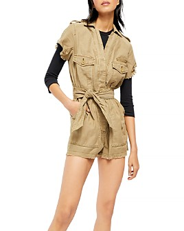 Free People - Released-Hem Belted Romper