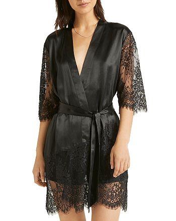 GINIA - Silk Lace Robe