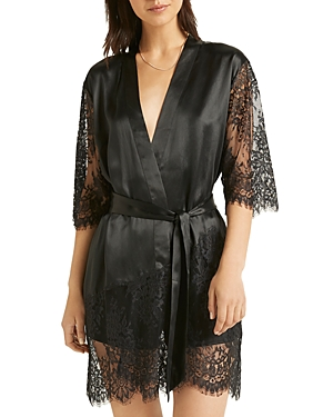 Ginia Silk Lace Robe