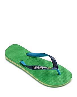 havaianas - Men's Brazil Mix Color-Block Flip-Flops