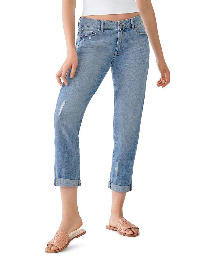 DL1961 - Riley Ripped Boyfriend Jeans in Washburn