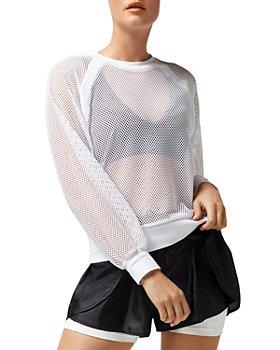 Blanc Noir - Irie Sheer Cropped Sweatshirt