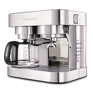 Dualit Espressione Stainless Steel Combination Espresso Machine & 10 Cup Drip Coffee Maker