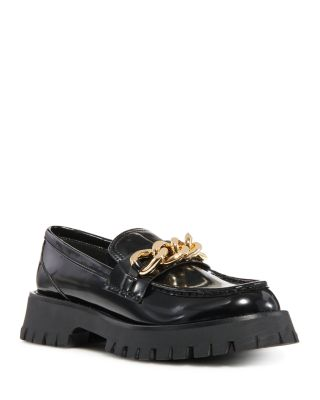 Recess Lug Sole Chain Loafers