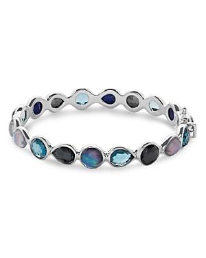 Ippolita Sterling Silver Rock Candy Mixed Stone Bangle Bracelet