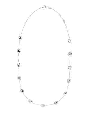 Ippolita Sterling Silver Classico Onda Stone Statement Necklace, 20