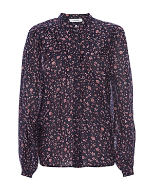Frame ANITA FLORAL PRINT BUTTON DOWN TOP