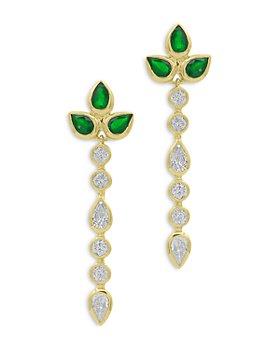 Bloomingdale's - Emerald & Diamond Drop Earrings in 14K Yellow Gold - 100% Exclusive