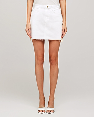 L\\\'Agence Allegra Side Zip Mini Skirt-Women