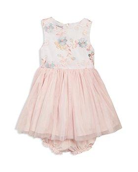 Pippa & Julie - Girls' Embroidered Mesh Bodice Tutu Dress - Baby
