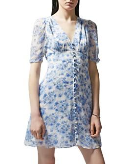 The Kooples - Vintage Flowers Floral Print Dress