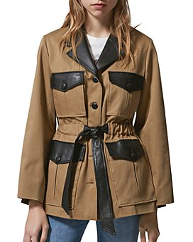 The Kooples - Leather Trim Utility Jacket