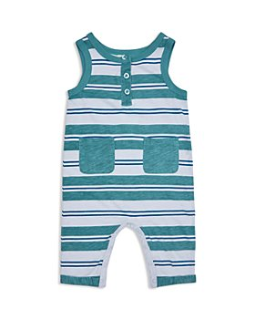 Peek Kids - Boys' Cotton Nico Striped Henley Coverall - Baby