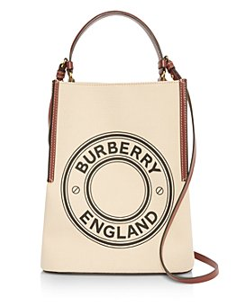 Burberry - Small Logo Graphic Cotton Canvas Peggy Bucket Bag