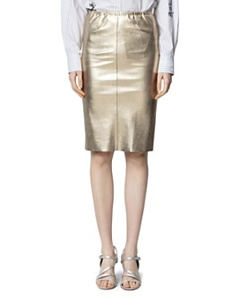 Zadig & Voltaire - Jaden Metallic Graduated Skirt