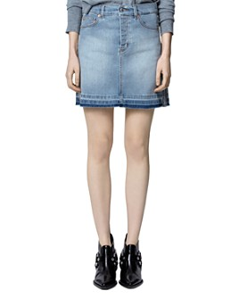 Zadig & Voltaire - Juicy Silver Trim Denim Skirt