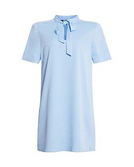 BCBGMAXAZRIA - Tie Neck Shift Dress