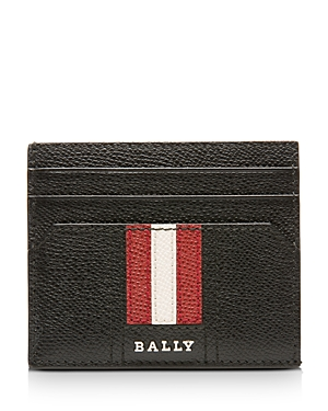 Bally Talbyn Textured Leather Flat Card Case-Men