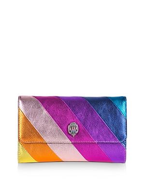 Kurt Geiger London K Stripe Mini Leather Chain Wallet-Handbags