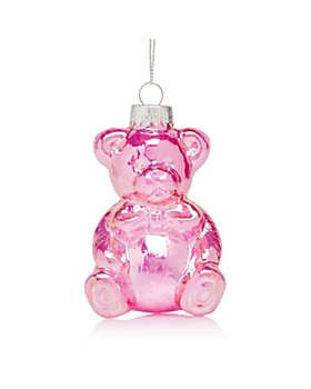 Bloomingdale's - Glass Teddy Bear Ornament - 100% Exclusive